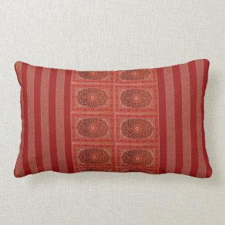 Verzierung stripes rotes Lila der orange Scheune Kissen