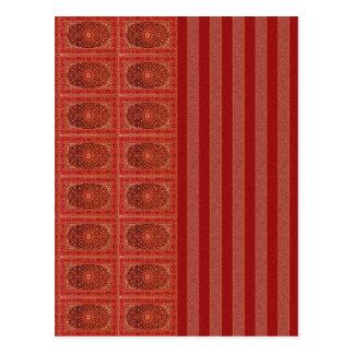 Verzierung stripes rotes Lila der orange Scheune Postkarten