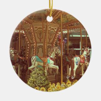 Verzierung - Vintages Karussell Rundes Keramik Ornament