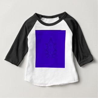 Verzierungs-Blau Baby T-shirt