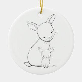 Verzierungs-kundenspezifisches Baby-Geschenk des Rundes Keramik Ornament