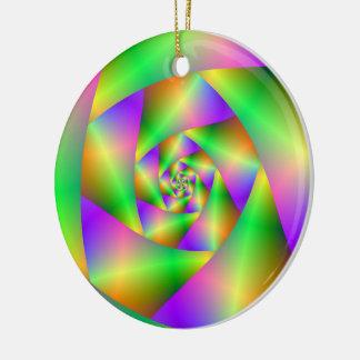 Verzierungs-psychedelische Spirale Keramik Ornament