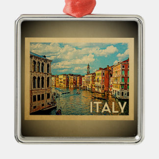 Verzierungs-Vintage Reise Venedigs Italien Silbernes Ornament