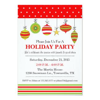 Verzierungs-Weihnachten oder Feiertags-Party Karte