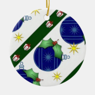 Verzierungs-Weihnachten Rundes Keramik Ornament