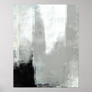 """""""Verzögerte"""" graue abstrakte Kunst Poster"""