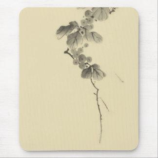 Verzweigen Sie sich mit Blätter u. Beeren Hokusai Mousepad