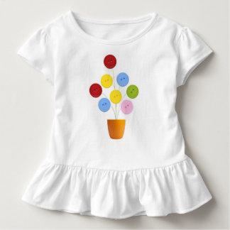 Vestido Gestaltung Blume der Knöpfe Kleinkind T-shirt