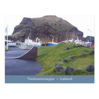 Vestmannaeyjar, Island-Postkarte Postkarte