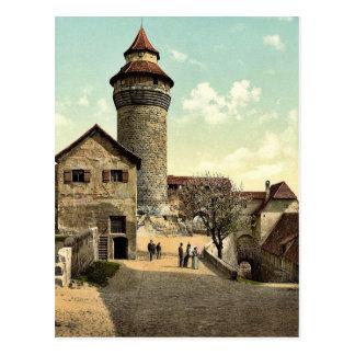 Vestner Turm, Nürnberg, Bayern, Deutschland Postkarte
