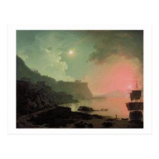 Vesuv von Posillipo, c.1788 (Öl auf Platte) Postkarte