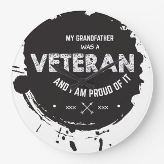 Veteran Große Wanduhr