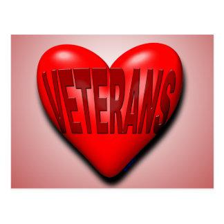Veteran in Ihrem Herzen Postkarte