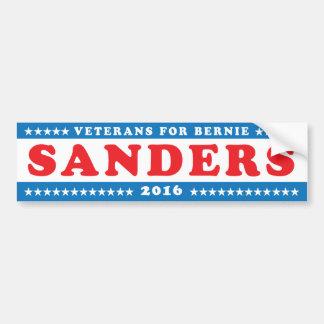 Veterane für Bernie-Sandpapierschleifmaschinen '16 Autoaufkleber