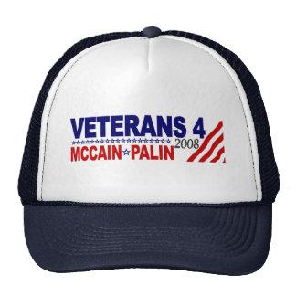 Veterane für McCain Palin 2008 Netzkappen