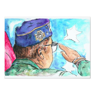 Veteranen-Einladung Karte