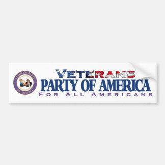 Veteranen-Party von Amerika-Autoaufkleber Autoaufkleber