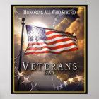 Veteranen-Tag - alle ehrend, die dienten Poster
