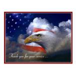 Veteranen-Tagesamerikanische Flagge und Eagle-Post Postkarte
