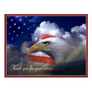 Veteranen-Tagesamerikanische Flagge und Postkarte
