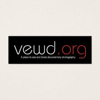 Vewd Medium-Fotograf-Karte - dünn Mini Visitenkarte