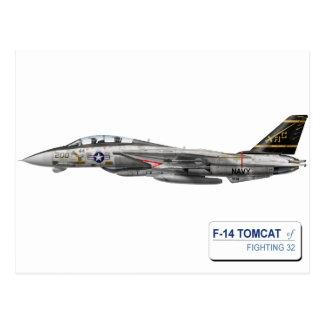 VF-32 Schwertfechter F-14 トムキャット VF-32 スォーズメン Postkarte