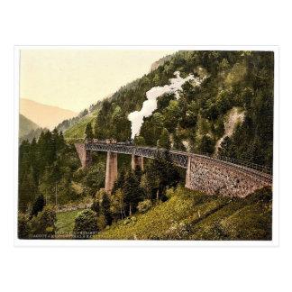 Viaduct und Schlucht, Hollenthal, Schwarzwald, Postkarte