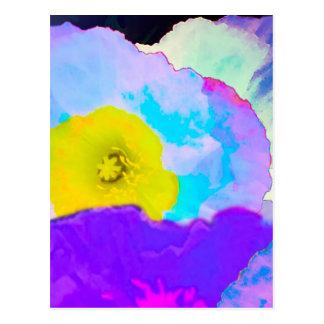Vibrierende Blumen Postkarte