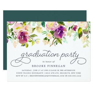 Vibrierende Blüten-Abschluss-Party Einladung