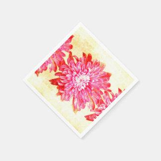 Vibrierende Chrysantheme Papierserviette