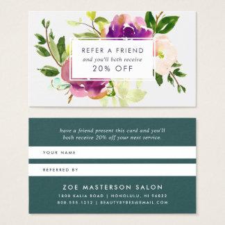 Vibrierende Empfehlung der Blüten-| Visitenkarte