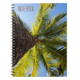Vibrierende exotische Palme Notizblock