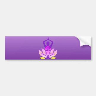 Vibrierende Farbom-Lotos-Yoga-Pose Autoaufkleber