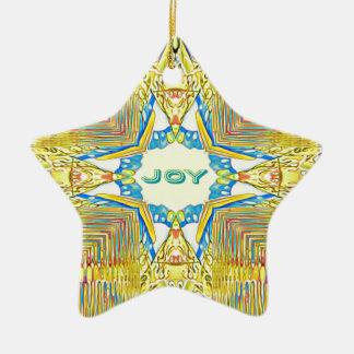 "Vibrierende festliche inspirierend ""FREUDE"" selten Keramik Ornament"