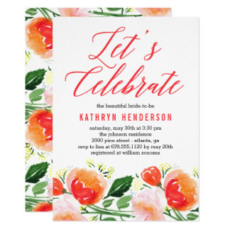 Vibrierende Garten-Brautparty-Einladung 12,7 X 17,8 Cm Einladungskarte