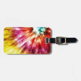 Vibrierende gefärbte Krawatte abstrakt Gepäckanhänger
