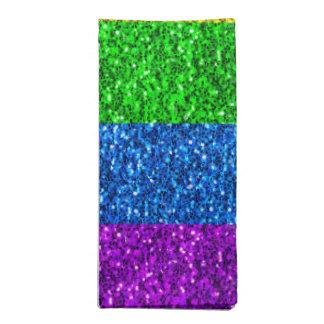 Vibrierende Glitzern LGBT Flagge Serviette