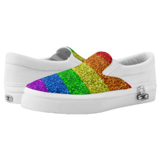 Vibrierende Glitzern LGBT Flagge Slip-On Sneaker