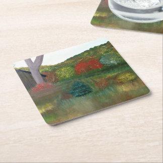 Vibrierende Herbst-Untersetzer Rechteckiger Pappuntersetzer