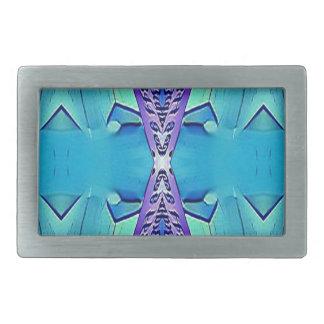 Vibrierende moderne Schatten von blauem Lila Rechteckige Gürtelschnallen