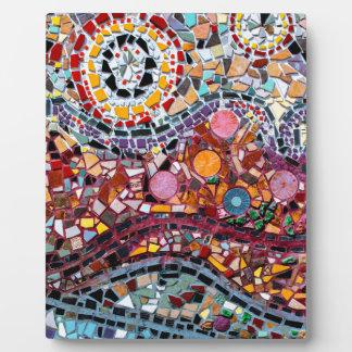 Vibrierende Mosaik-Wand-Kunst Fotoplatte