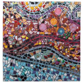 Vibrierende Mosaik-Wand-Kunst Stoffserviette