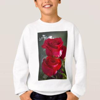 Vibrierende romantische Rote Rosen Sweatshirt