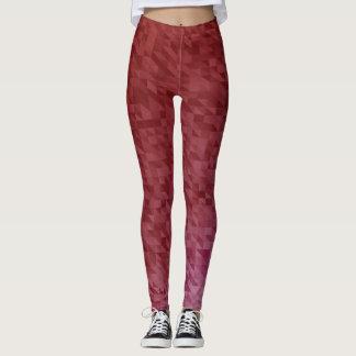Vibrierende rote Yoga-Hosen/Gamaschen Leggings