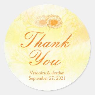 Vibrierende Sonnenblume danken Ihnen Aufkleber