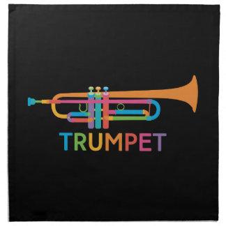 Vibrierende Trompete in den Regenbogen-Farben Serviette