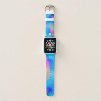 Vibrierende tropische Aquarelle - Herz u. Apple Watch Armband