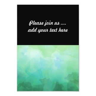 Vibrierender Aquamarine-Aquarell-Hintergrund 12,7 X 17,8 Cm Einladungskarte