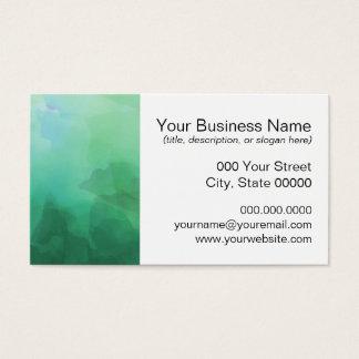 Vibrierender Aquamarine-Aquarell-Hintergrund Visitenkarte