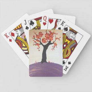 Vibrierender Fall-Baum-Druck-Spielkarten Spielkarten